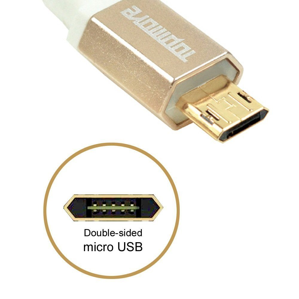 Topmore Double Sided Usb Cable Data Sync Charging Cord 1m